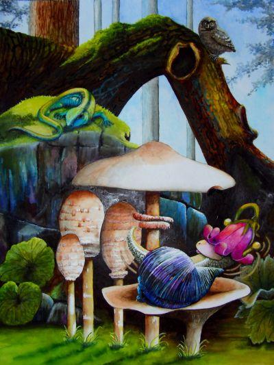 Kinderbuchillustration für Schneckerine Caroline