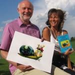 Dieter Jurek mit der Kinderbuchautorin Ingrid Kleber.